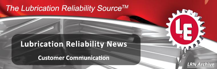 Lubrication Reliability News Header